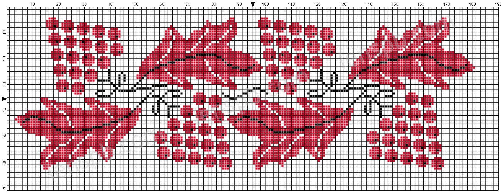 Вышивка крестикомрушники 36