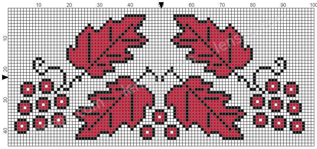 Образец схемы для вышивки