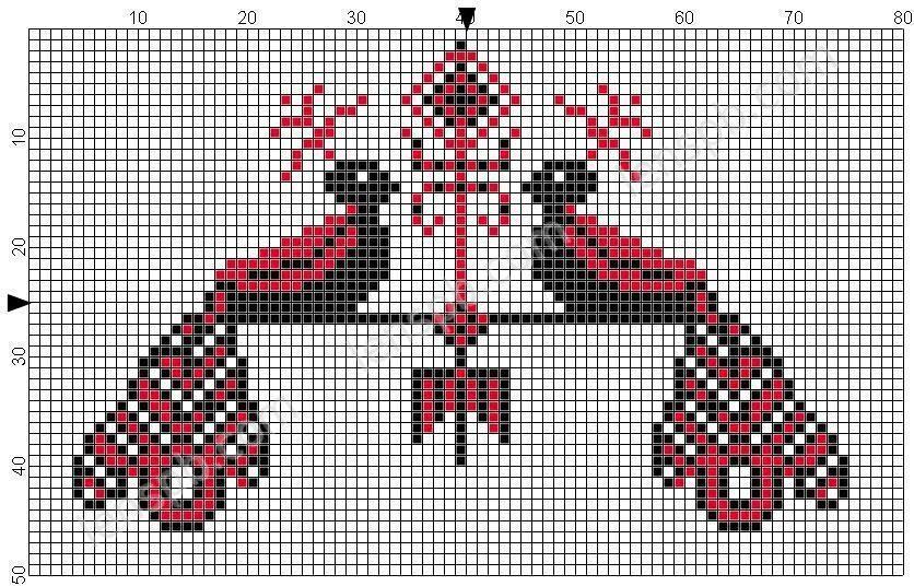 Схемы вышивки крестом - вполне